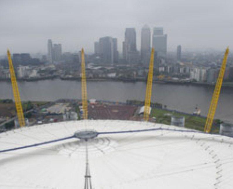 Cheap Views of London Up At The O2